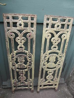 Antique Cast Iron Balcony Stair Spindles Balusters Kings Royal's Victorian Old