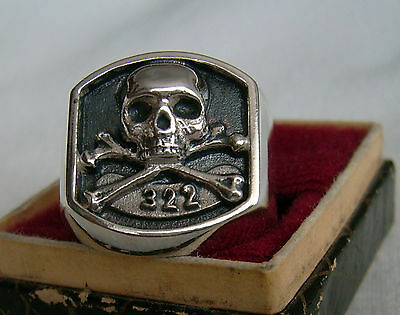 322 Skull And Bones Yale Secret Society  925 Ring