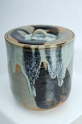 (E) Hand Crafted Japanese Signed  Water Jar Cannister w/Lid Tea Caddy