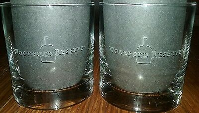 Woodford Reserve Kentucky Straight Bourbon Whiskey Etched Rock Glass Set