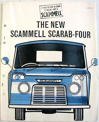 SCAMMELL Scarab-Four Original Commercials Sales Brochure 1950s #131