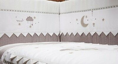"Silver Cross ""to the moon and back"" luxury cot / cotbed bumper -New Design  BN"