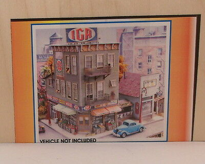 """Sn3 S CRAFTSMAN BAR MILLS """"BOOTY CORNER"""" IGA GROCERY STORE/ROOMING HOUSE KIT NEW"""