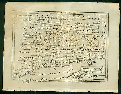 1841 Map of Connecticut by S.G. Goodrich of Mass.