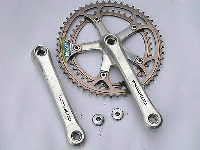 Vintage Shimano 600 FC-6207 170mm 52/42 crank with Biopace Chainrings