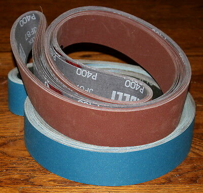 2 x 48 Sanding Belt Knifemaker Variety Kit AZ/Zirc & A/O  (14pc)