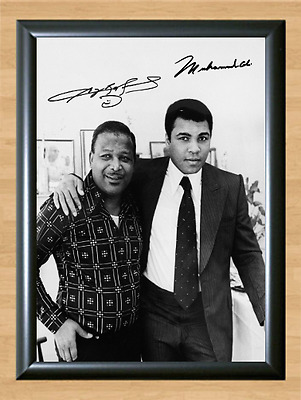 Muhammad Ali and Sugar Ray Robinson Signed Autographed Print Photo Poster Pose