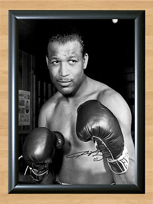 Sugar Ray Robinson Signed Autographed Print Photo Poster Pose Gloves Ring Rey