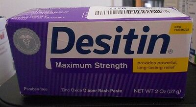 Desitin Baby Diaper Rash Maximum Strength Original Paste 2 Oz. Tube