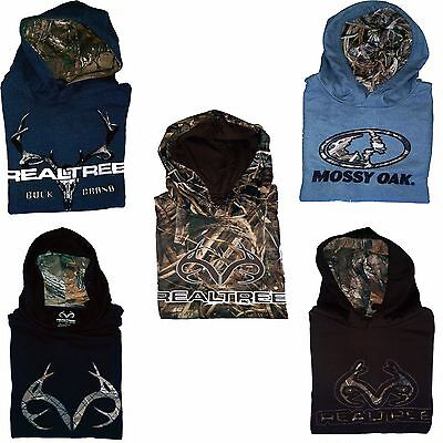 REALTREE & MOSSY OAK Hunting Camping Fishing Pullover Cotton and Fleece Hoodie