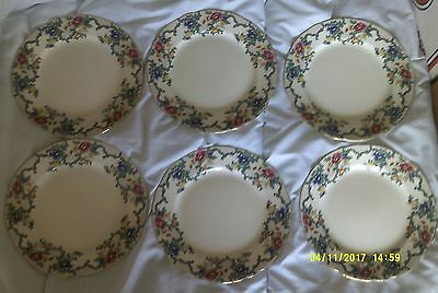 Royal Cauldon Victoria Pattern. 6 x Dinner Plates 10.3/4""