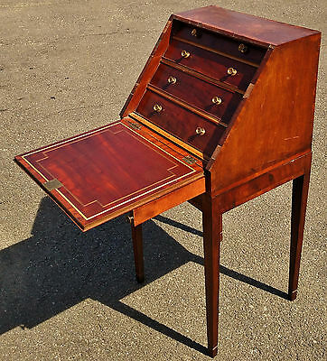 Antique 19th C English Fitted Interior SLANT FRONT DESK