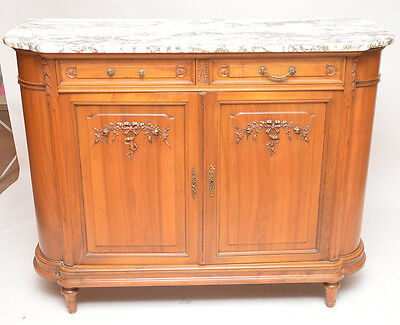 Antique French Marble Top Server , Console Table.