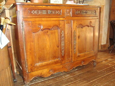 French 18th century Provincial carved Louis XV hutch vaisselier buffet late 1700