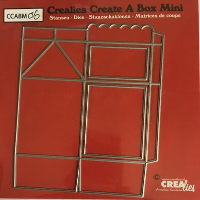 NEW Crealies Create a Box MINI No.6 - MILK CARTON Cutting Dies CCABM06 105x125mm