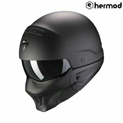 Scorpion EXO Combat Open Face Jet Urban Motorcycle Helmet - Matt Black