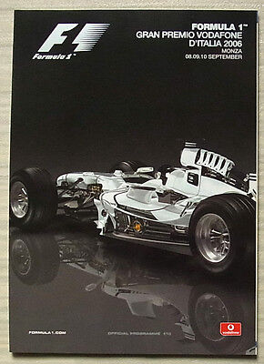 ITALIAN GRAND PRIX FORMULA ONE F1 2006 MONZA Official Programme