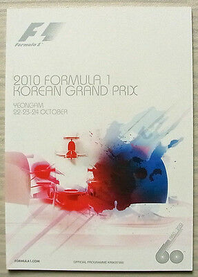 KOREAN GRAND PRIX FORMULA ONE F1 2010 Yeongam Official Programme