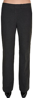 Calvin Klein Women's Lined Classic Fit Dress Pants Heather Charcoal
