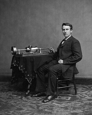 1878 Phonograph Inventor THOMAS EDISON Glossy 8x10 Photo Print Portrait
