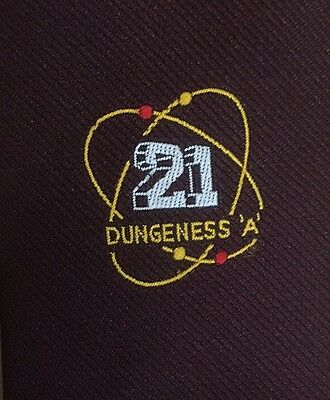 Vintage Dungeness A Nuclear Power Plant Logo Tie 1980s Excellent Condition