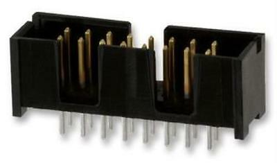 Through Hole Header 1 Rows Wire-To-Board Connector AMPMODU MTE Series 2-103639-5 Pack of 50 2.54 mm 2 Contacts 2-103639-5
