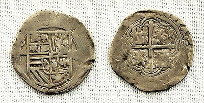 FELIPE II. 1 Real MEXICO Without date Shield Between M-O. VF/MBC Silver 3,2 (g).
