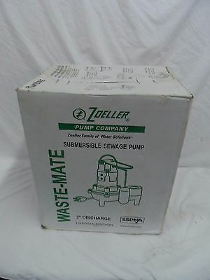 Brand New Zoeller M267-F 1/2HP Submersible Sewage Sump Pump