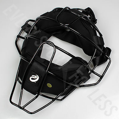 Pro Nine Senior Umpire Wire Face Mask OSFM - Black (NEW)