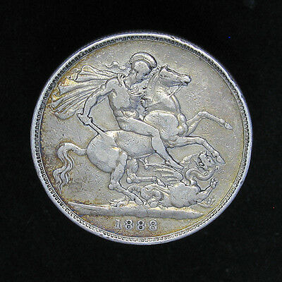 1888 Great Britain Crown silver coin 132,000 minted