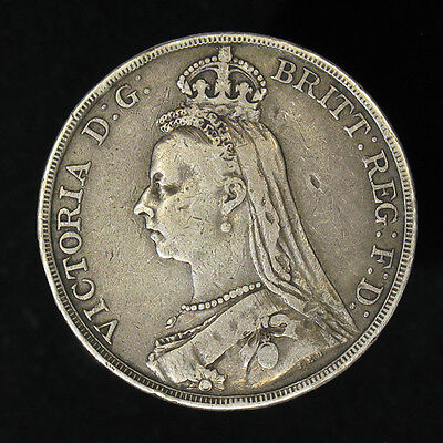1890 Great Britain Crown silver coin