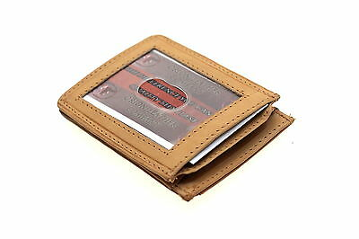 Genuine Leather Credit Card Holder Case Small Front Pocket ID Expandable Pocket