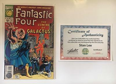 Fantastic Four #390 Signed Stan Lee W/coa Watcher Galactus