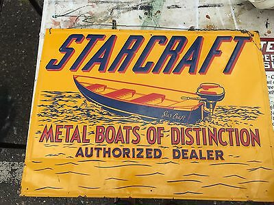 vintage early fifties Starcraft boat sign 24X18 metal