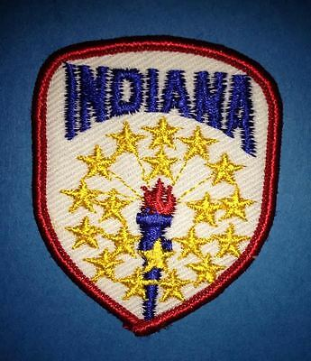 Vintage Indiana Sew On Hat Jacket Biker Vest Backpack Travel Patch Crest A