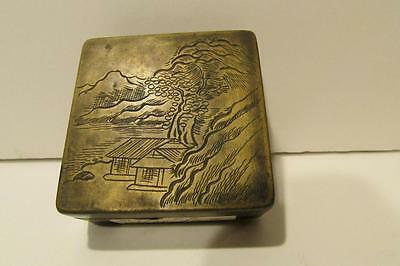 Antique Chinese Metal Box Ink Pad - Circa 1880