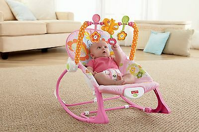 Baby Girl Bouncer Seat Newborn Infant Toddler Rocker Vibration Rocking Chair NEW