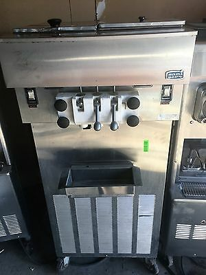 Twist Soft Serve Ice Cream/Yogurt Machine 3 HEAD SANISERV STAINLESS ON CASTERS
