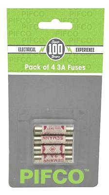 4x Pack of 3 Amp 3A Fuse Domestic Household Electrical Mains Plug Fuses