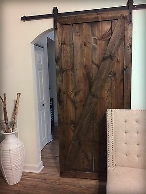 Rustic Barn Door - including sliding track and hardware