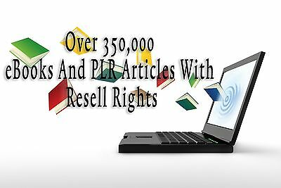 I will give over 350,000 ebooks and plr articles with plr resell rights