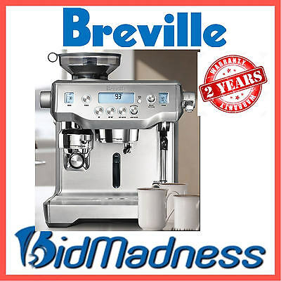 BREVILLE BES980 The ORACLE AUTO MANUAL ESPRESSO MACHINE  P'UP AVAILABLE 2YRS WTY