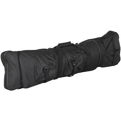 "Black Tactical Airsoft Rifle Fishing Rod Bag Backpack 39""/1 Metre Long - By TRI"