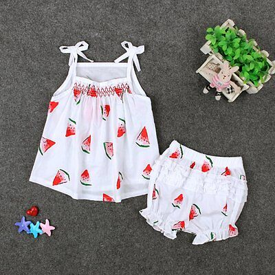 2PCS Toddler Kids Baby Girls Summer Clothes T-shirt Tops+Shorts Pants Outfit Set