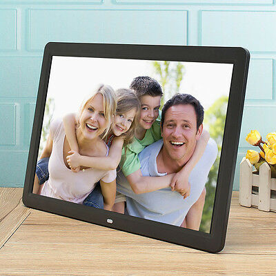 "12"" HD LED Frameless Digital Photo Frame Picture Alarm Clock MP3/MP4 Player au"