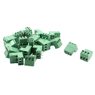 20Pcs 5.08mm 3 Way PCB Mount Screw Terminal Block for 14-22 AWG Wire A7E
