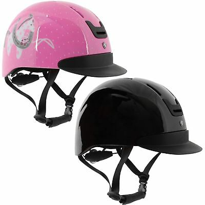 Horka Equestrian Kids Junior Horsy Durable Comfort Fit Horseprint Safety Helmet