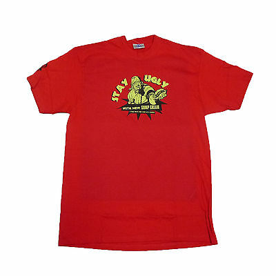Stay Ugly OFFICIAL Red T-Shirt 2000 AD Gift Zombie Judge Dredd 4C