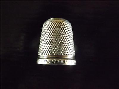 ANTIQUE VICTORIAN STERLING SILVER THIMBLE THE SPA HENRY GRIFFITHS SIZE 18 c1900