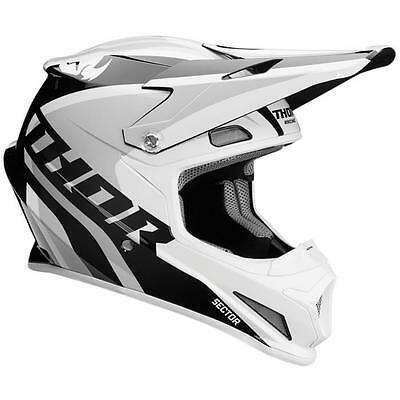 Thor MX Helm Sector Ricochet - weiß-grau Motocross Enduro MX Cross